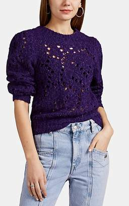 Etoile Isabel Marant Women's Sineady Pointelle-Knit Wool Sweater - Purple
