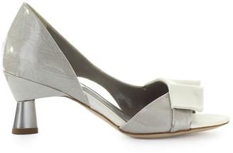 Bardot Ixos Grey White Open Toe Pump