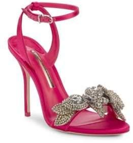 Sophia Webster Lilico Crystal-Embellished Leather Sandals