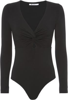 T by Alexander Wang Twist Front Knit Bodysuit $195 thestylecure.com