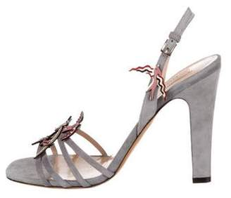 Valentino Bird Appliqué Ankle Strap Sandals w/ Tags