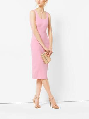 Michael Kors Stretch-Wool Sheath Dress