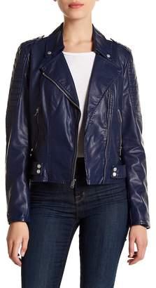 Andrew Marc Leanne 20 Asymmetrical Moto Jacket