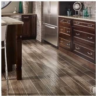 "MSI Palmetto Smoke 6"" x 36"" Porcelain Wood Look Tile in Gray"