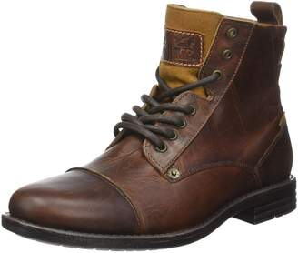 Levi's Emerson Lace Up Boots - Medium Brown UK 105