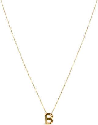 Maje 'B' initial pendant necklace