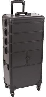 SUNRISE Makeup Rolling Case 4 in 1 Professional Organizer I3364 Aluminum