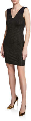 Rachel Roy Callie Dotted V-Neck Sheath Dress