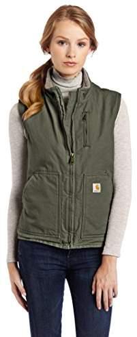 Carhartt Women's Sandstone Mock Neck Sherpa Lined Zip Front Vest