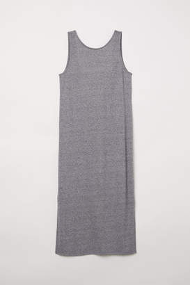 H&M Knee-length Jersey Dress - Gray