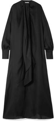The Row Adesuwa Silk-crepe Gown - Black