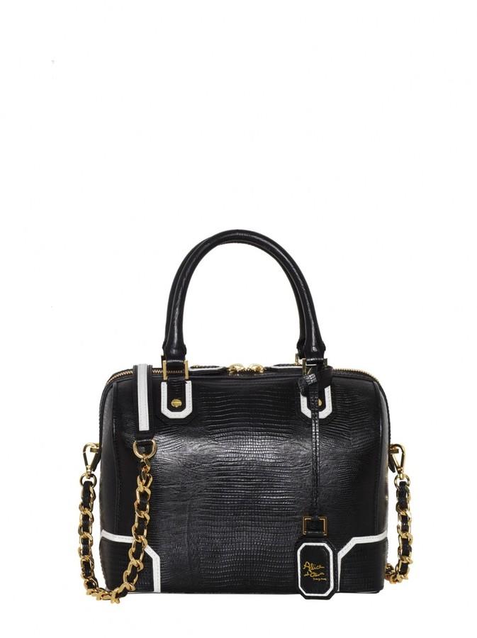 Alice + Olivia Olivia Lizard Embossed Leather Bag