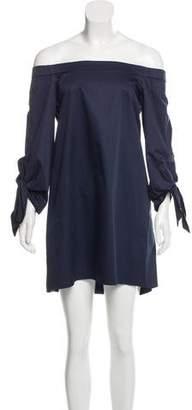 Tibi Off-The-Shoulder Shift Dress