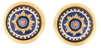 Hermes Mosaic Enamel Clip-On Earrings