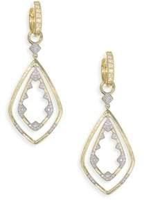 Jude Frances Lisse Diamond Double Drop Kite Earring Charms