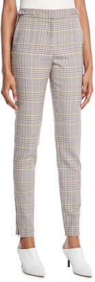 Gabriela Hearst Lisa Skinny-Leg Plaid Wool Sportswear Pants