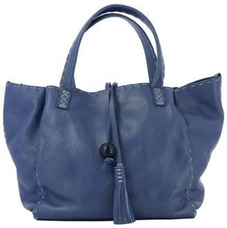 Henry Beguelin Blue Leather Handle Bag