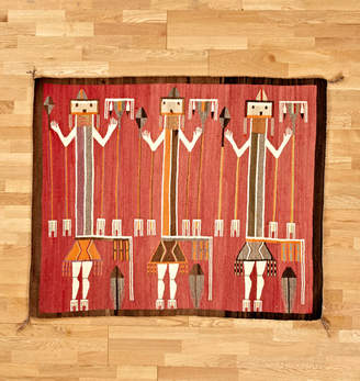 Rejuvenation Large Scale Navajo Weaving w/ Yei Figures and Spears