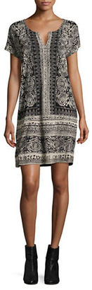 Lucky Brand Printed Short Sleeve Dress $79.50 thestylecure.com