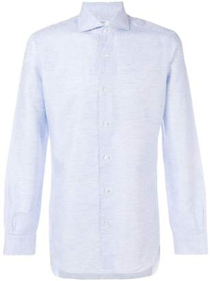 Barba micro check shirt