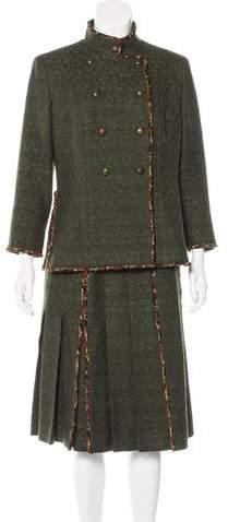 Chanel Paris-Shanghai Tweed Skirt Suit