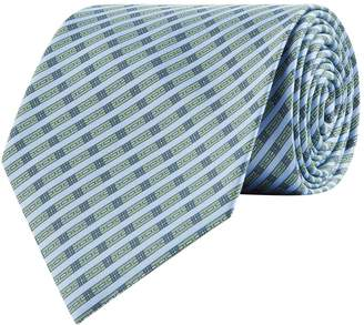Stefano Ricci Silk Diagonal Stripe Print Tie