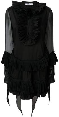 Givenchy pleated A-line short dress