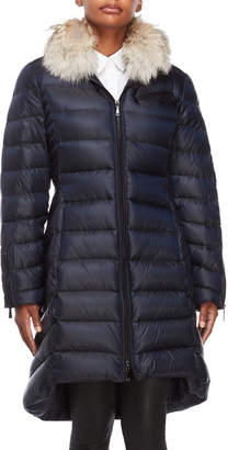 Dawn Levy Real Fur Hooded Down Coat