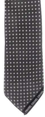 Chanel Polka Dot Logo Tie