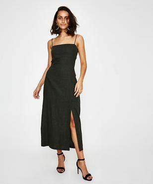 MLM Label Paris Midi Dress Deep Khaki
