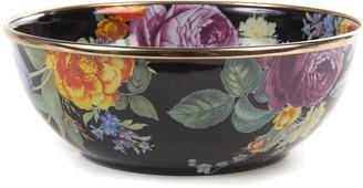 Mackenzie Childs MacKenzie-Childs Flower Market Black Everyday Bowl