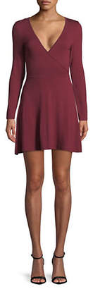Missguided Long-Sleeve Jersey Skater Dress