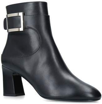 Roger Vivier Chunky Trompette Buckle Ankle Boots 100