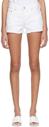 Levi's Levis White 501 Denim Shorts