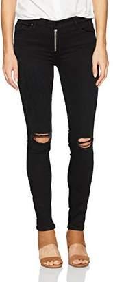 Black Orchid Women's Natalia Exposed Zipper Skinny Jean