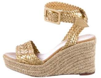 Hermes Braided Platform Wedges