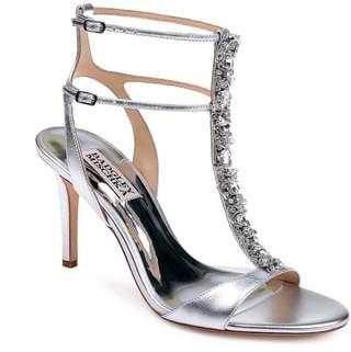 Badgley Mischka Hollow T-Strap Embellished Sandal