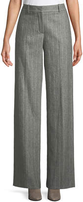 Loro Piana Adam High-Rise Pinstripe Wide-Leg Pants