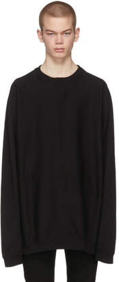 TAKAHIROMIYASHITA TheSoloist. Black Oversized Freedom Sweatshirt