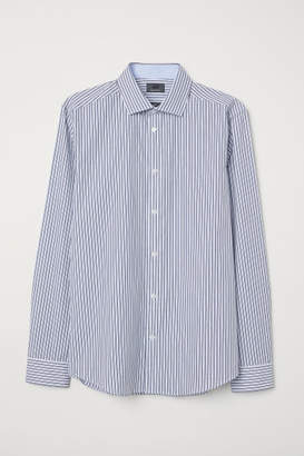 H&M Premium Cotton Shirt - Blue