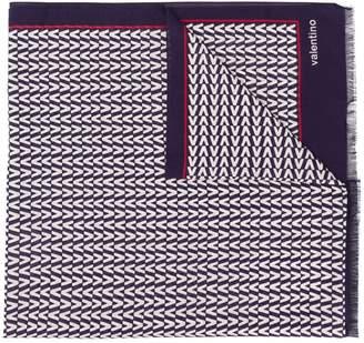 Valentino large logo print scarf