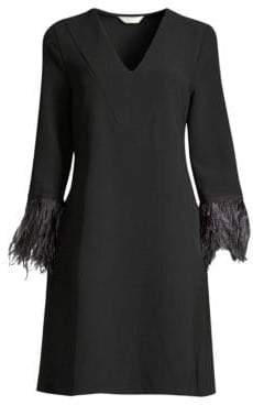 Beatrice. B Feathered Sleeve Dress