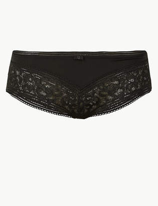 Marks and Spencer Louisa Lace Striped Brazilian Knickers