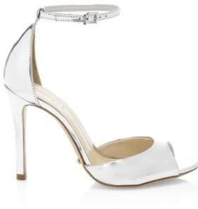 Schutz Enida Saasha Lee Metallic Leather d'Orsay Sandals