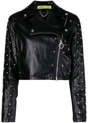 Versace cropped biker jacket