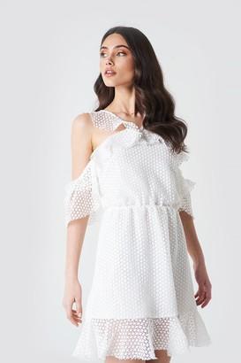 Linn Ahlborg X Na Kd Double Frill Sleeve Dress