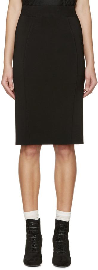 Burberry London Black Knit Skirt