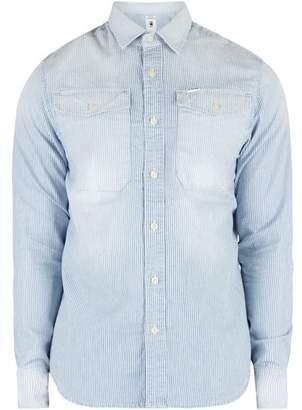 Raw Men's Bristum Utility Straight Fit Shirt, Blue