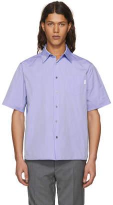 Prada Blue and Navy Colorblock Shirt