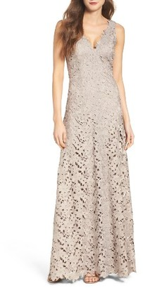 Women's Vera Wang Lace Gown $398 thestylecure.com